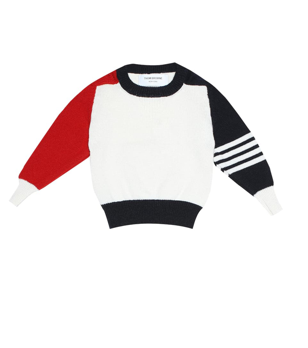 Thom Browne Baby Cashmere Sweater In White