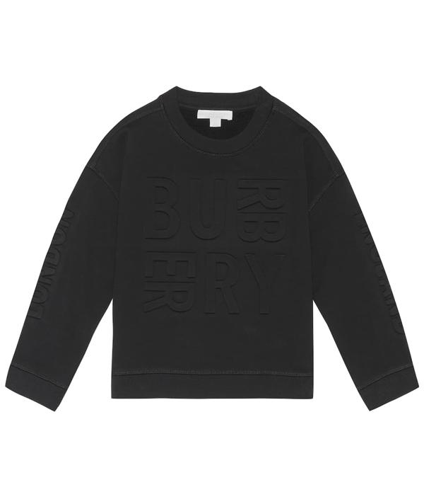 Burberry Kids' Cotton Sweatshirt In Black