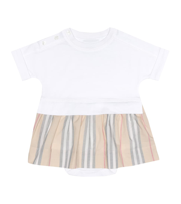 Burberry Baby Cotton Dress And Bloomers Set In White