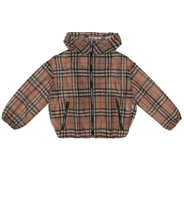 Burberry Kids' Vintage Check Technical Jacket In Brown