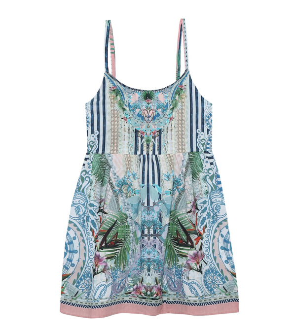Camilla Kids' Little Girl's & Girl's Beach Shack Print A-line Dress In Multicoloured