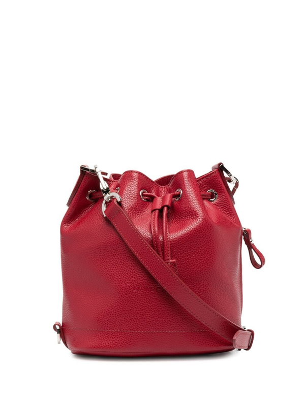 Ladies Navy Le Foulonne Bucket Bag S In Red