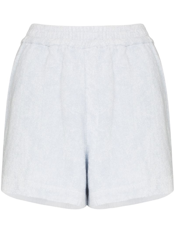 Terry Towelling Terry Cruise Cotton Shorts In Blue