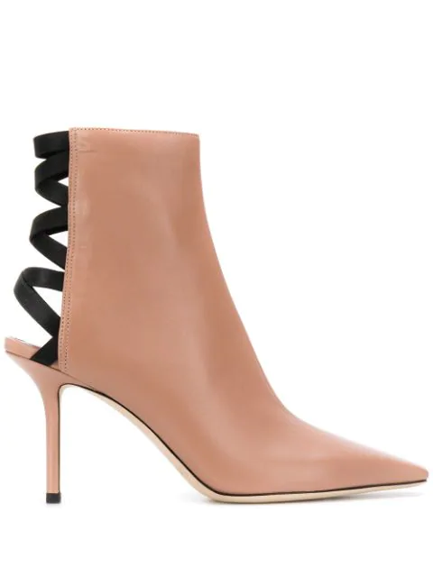Jimmy Choo Levin 85 Ankle Boots In Pink