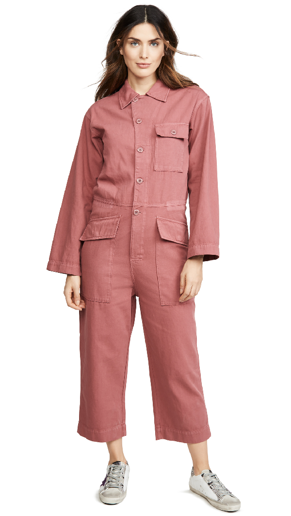 Current Elliott The Richland Coveralls In Washed Berry