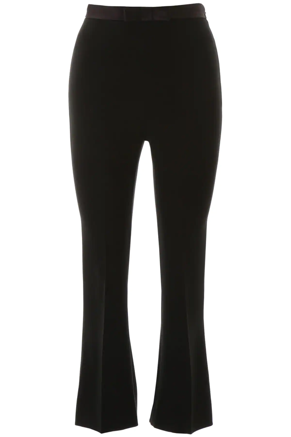 Miu Miu Trousers With Bow In Black