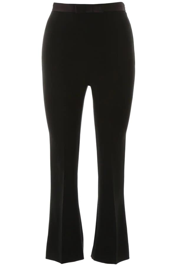 Miu Miu Trousers With Bow In Nero (black)