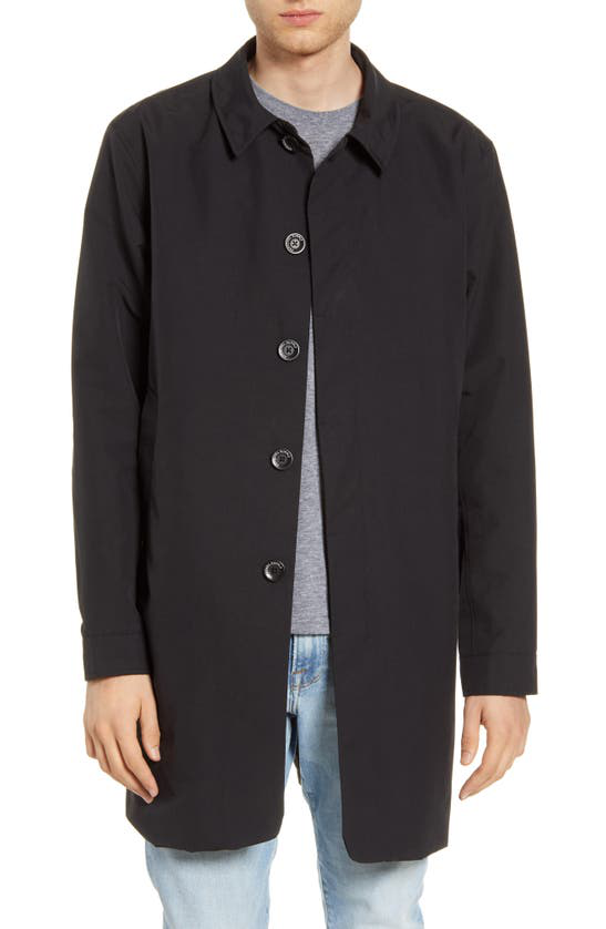 Herschel Supply Co. Waterproof Mac Coat In Black