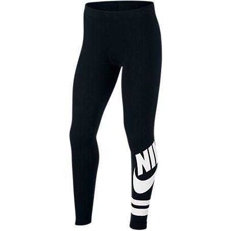 Nike Sportswear Big Kids' (girls') Graphic Leggings (black) - Clearance Sale