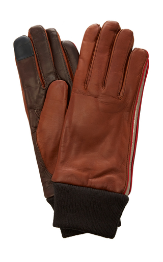 Maison Fabre Cashmere And Wool Cuff Gloves In Brown