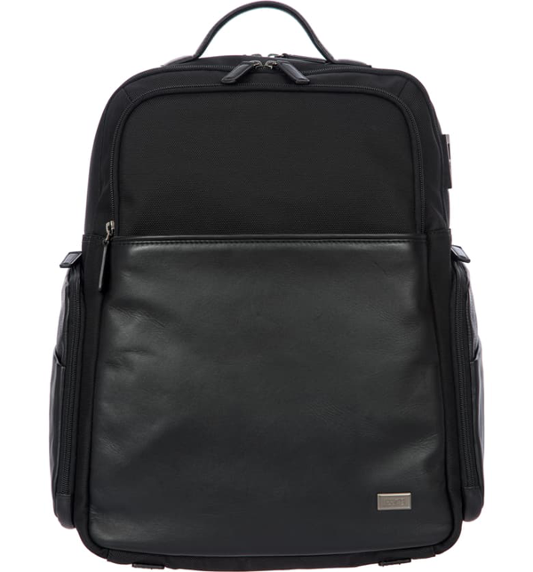 Bric's Monza Large Business Backpack In Black/ Black