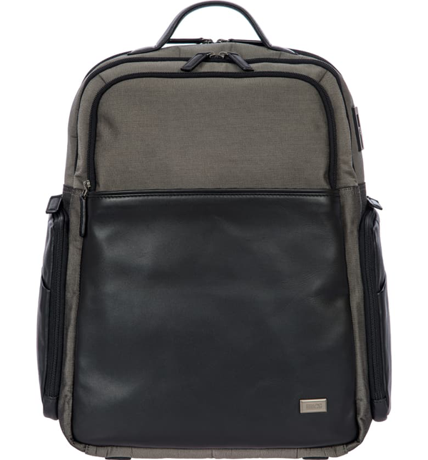 Bric's Monza Large Business Backpack In Grey/ Black