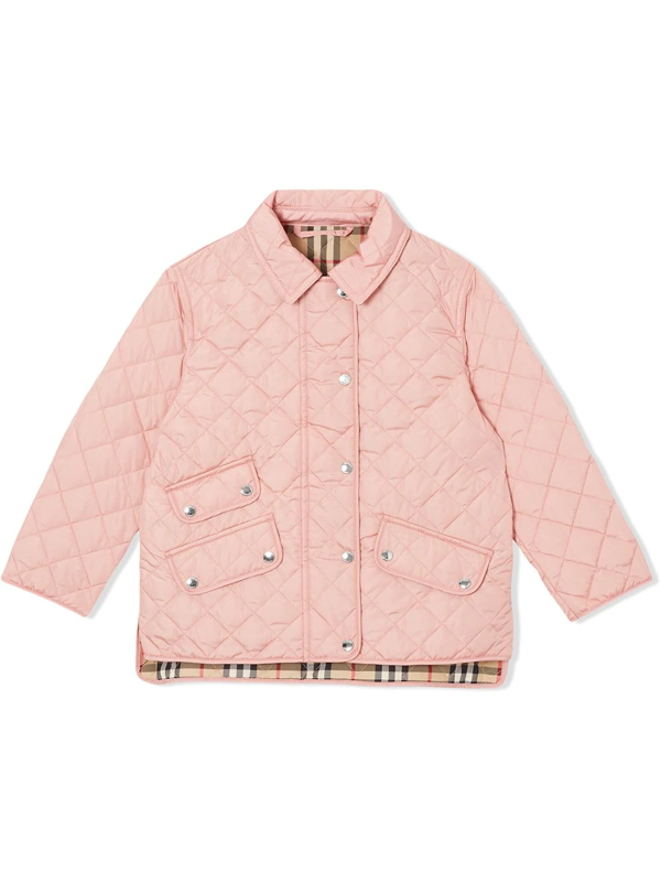 Burberry Teen Diamond Quilted Jacket In Pink