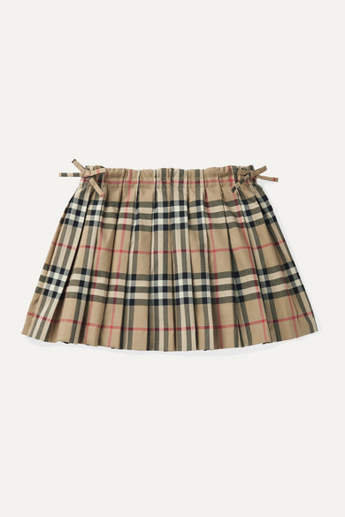 Burberry Girls' Pearly Vintage Check Pleated Skirt - Little Kid, Big Kid In Beige