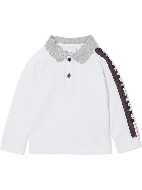 Burberry Babies' Boys' Duncan Long-sleeve Polo Shirt - Little Kid, Big Kid In White