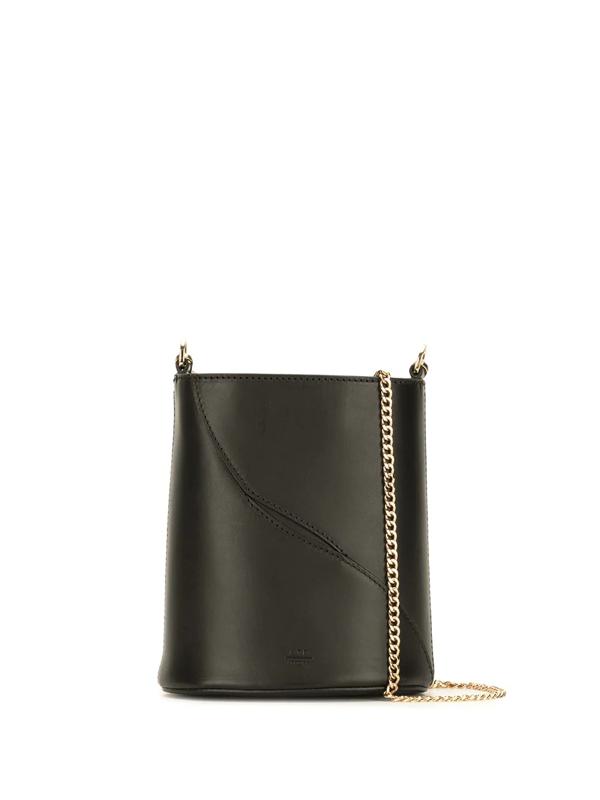 Atp Atelier Bucket-style Leather Shoulder Bag In Black