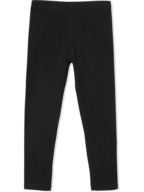 Burberry Babies' Black Stretch Cotton Leggings