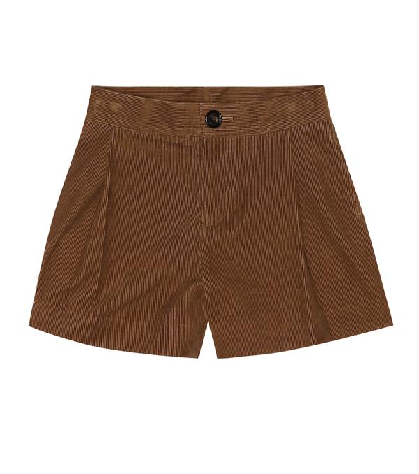 Burberry Kids' Elijah Cord Shorts In Brown