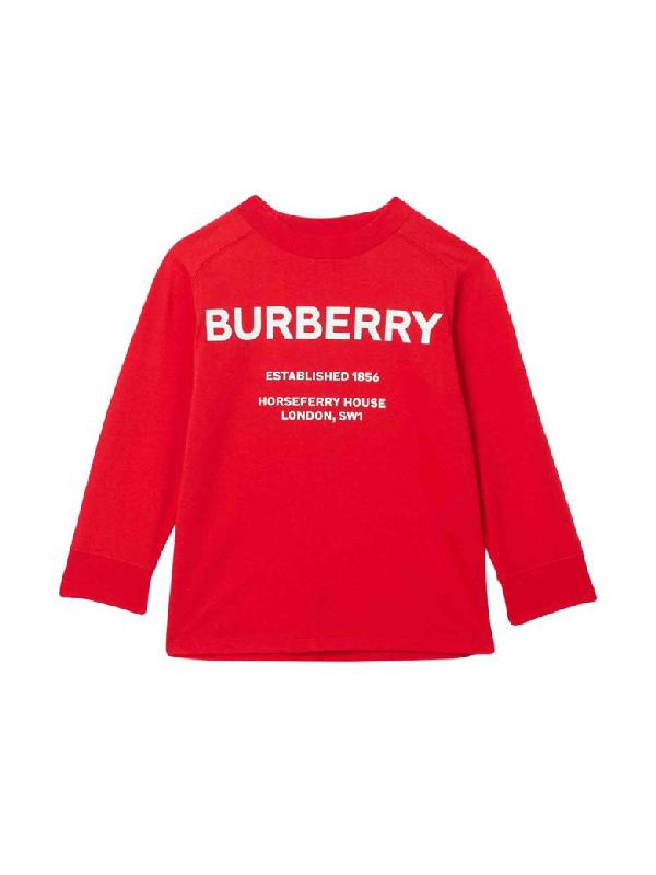 Burberry Kids' Red Sweatshirt In Rosso