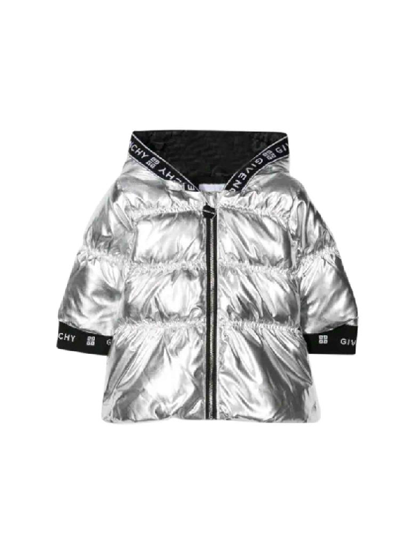 Givenchy Babies' Padded Jacket With Goose Down In Grigio