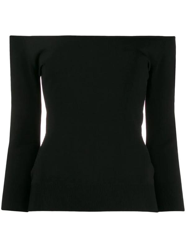 Dolce & Gabbana Off The Shoulder Top In Black
