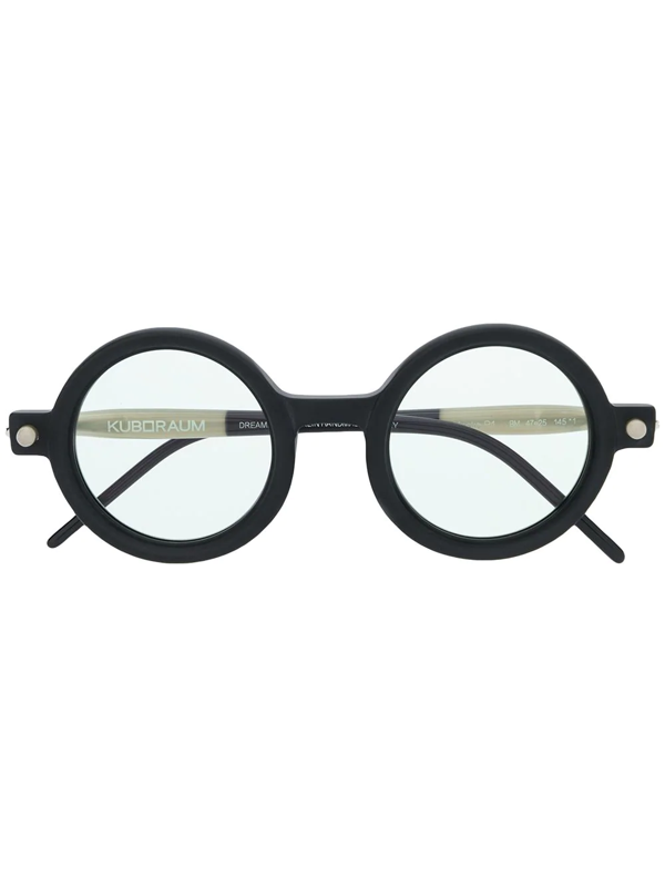 Kuboraum Round Frame Optical Glasses In Black