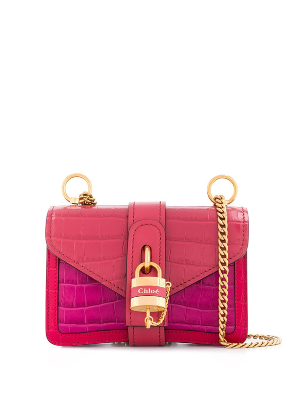 Chloé Mini Aby Chain Shoulder Bag In Pink