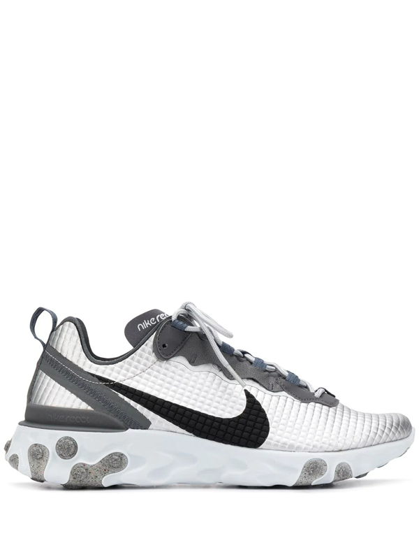 Nike React Element 55 Premium Men's Shoe (metallic Silver) - Clearance Sale In Silver/black
