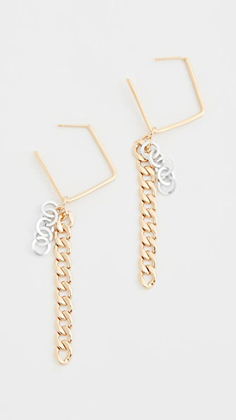 Gaviria Disco Earrings In Gold/silver