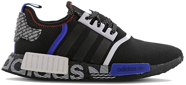 Pre-owned Nmd R1 Transmission Pack Core Black In Core Black/collegiate Royal/active Red