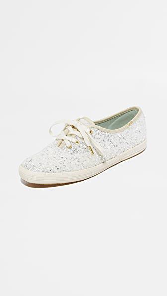 Kate Spade X  New York Glitter Sneakers In Cream