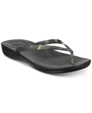 Fitflop Iqushion Flip Flop In Black