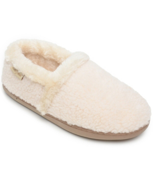 Minnetonka Dina Slipper Women's Shoes In Cream