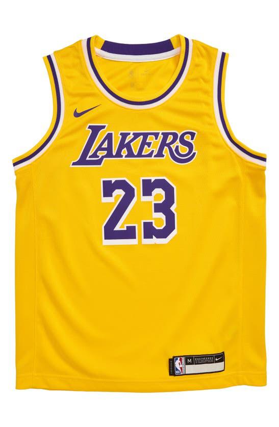 Nike Kids' Lebron James Los Angeles Lakers Icon Replica Jersey ...