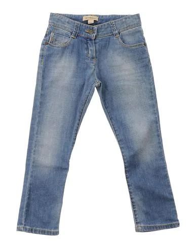 Burberry Kids' Denim Pants In Blue