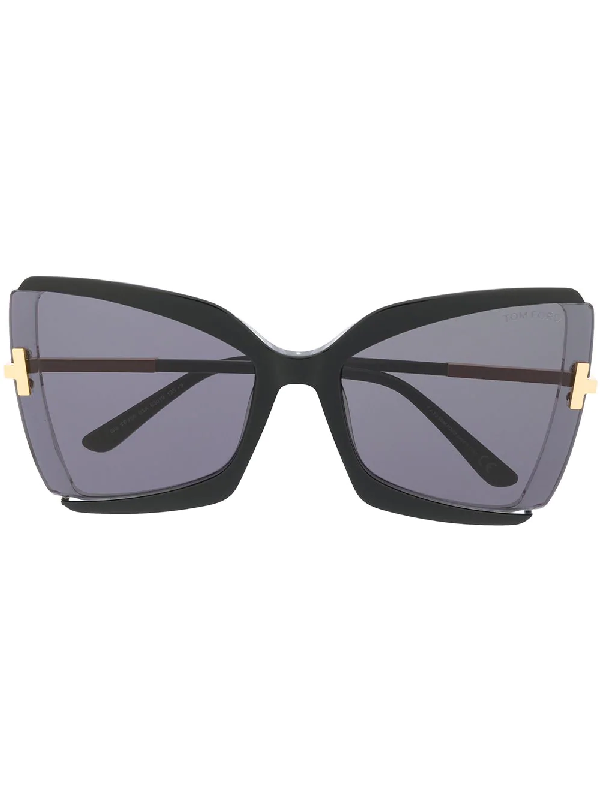 Tom Ford Gia Butterfly-frame Sunglasses In Black