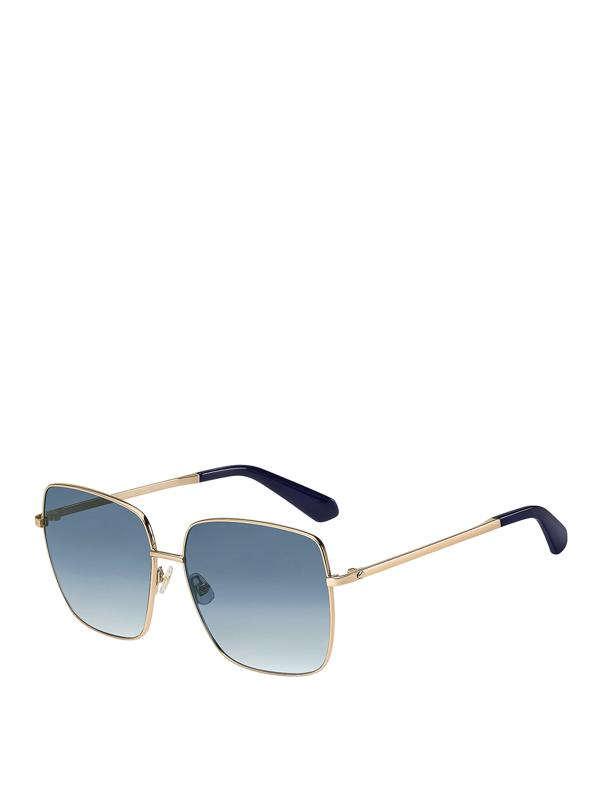 Kate Spade Fenton 60mm Gradient Square Sunglasses In Blue