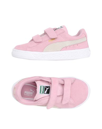 Puma Kids' Pink Suede Classic Strap Trainers