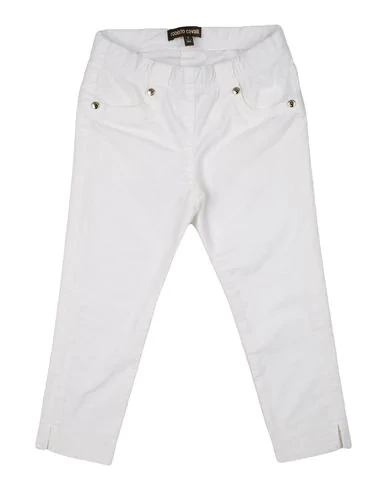 Roberto Cavalli Junior Kids' Gabardine Tailored Trousers In White