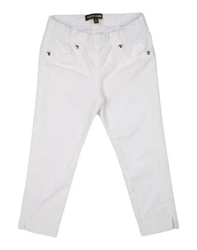 Roberto Cavalli Junior Kids' Gabardine Tailored Trousers In White