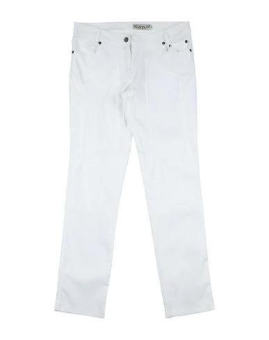 Jeckerson Kids' Cotton Trousers In White