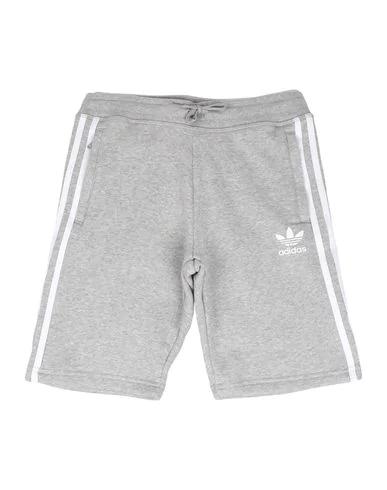 Adidas Originals Kids' 3-stripes Sweat Shorts In Medium Grey Heather/ White