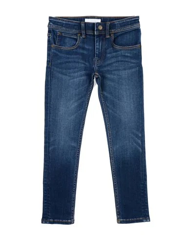 Burberry Kids' Denim Pants In Blue