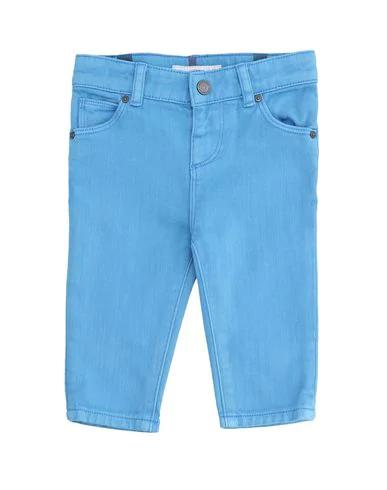 Burberry Babies' Denim Pants In Azure