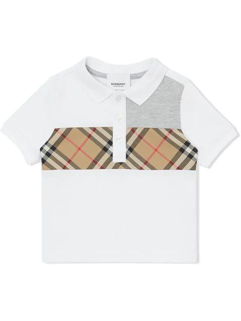 Burberry Boys' Mini Jeff Polo Shirt - Baby In A1464 White