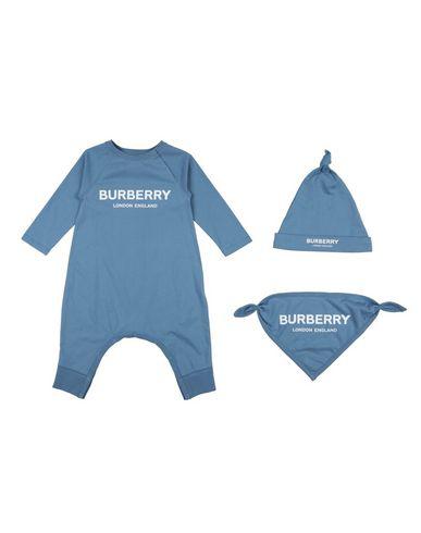 Burberry Babies' Romper In Slate Blue