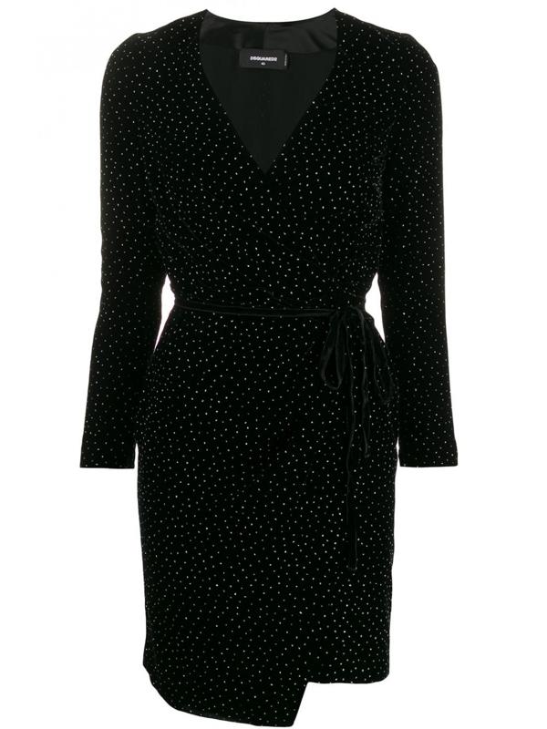 Dsquared2 Short Velvet Dress