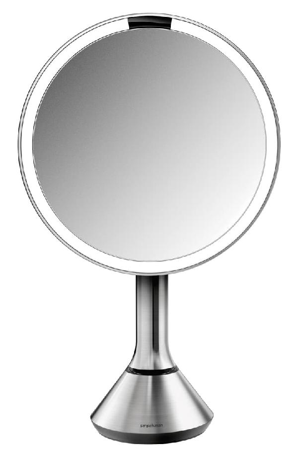 simplehuman 8 Brushed Stainless Steel Sensor Mirror w//Brightness Control