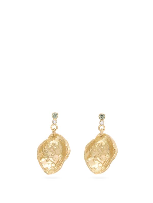 Nadia Shelbaya Diamond, Sapphire & 18kt Gold Drop Earrings
