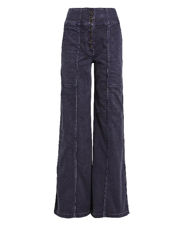 Ulla Johnson Greer Wide-leg Jeans In Grey